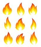 Inzameling van brandpictogrammen stock illustratie