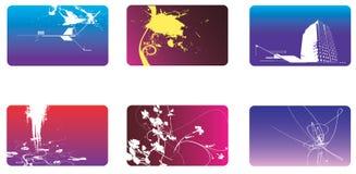 Inzameling van bussinesskaart o Stock Afbeelding