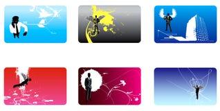 Inzameling van bussinesskaart o Royalty-vrije Stock Afbeelding