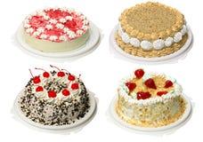 Inzameling van cake vier Stock Afbeeldingen