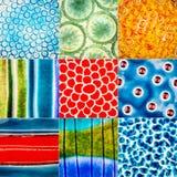 Inzameling van ceramische texturen Royalty-vrije Stock Afbeeldingen