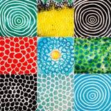 Inzameling van ceramische texturen Stock Fotografie