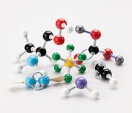 Inzameling van chemische modellen van atomen die kleurrijk zijn royalty-vrije stock afbeelding