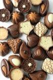 Inzameling van chocoladesuikergoed Stock Foto's