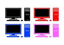 Inzameling van computers stock illustratie