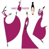 Inzameling van dansende vrouwen Royalty-vrije Stock Foto