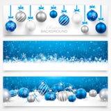Inzameling van de banners van Kerstmis Stock Fotografie