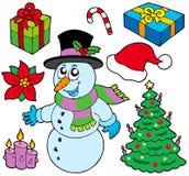 Inzameling van de beelden van Kerstmis Royalty-vrije Stock Afbeelding