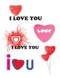 Inzameling van de concepten van de Valentijnskaart van Heilige Royalty-vrije Stock Afbeeldingen