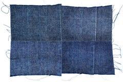 Inzameling van de donkerblauwe texturen van de jeansstof Royalty-vrije Stock Fotografie