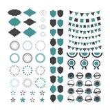 Inzameling van de elementen van het premieontwerp Reeks geometrische vormen, vector illustratie
