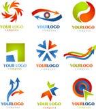 Inzameling van de emblemen en de pictogrammen van PIJLEN Stock Foto's