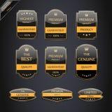 Inzameling van de Etiketten van de Kwaliteit van de Premie Stock Foto's