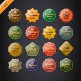 Inzameling van de Etiketten van de Kwaliteit van de Premie Stock Afbeelding