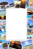 Inzameling van de foto's van de de zomervakantie Stock Afbeelding