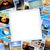 Inzameling van de foto's van de de zomervakantie Stock Afbeeldingen