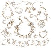 Inzameling van de juwelen van vrouwen Royalty-vrije Stock Foto's