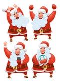 Inzameling van de karakters van Kerstmissanta claus Royalty-vrije Stock Afbeelding