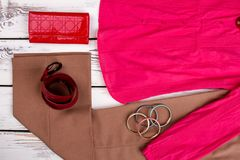 Inzameling van de kleding van glamourvrouwen ` s Stock Foto