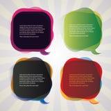 Inzameling van de Kleurrijke Bellen van de Toespraak stock illustratie
