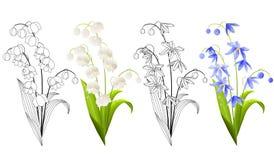Inzameling van de lentebloemen royalty-vrije illustratie