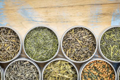Inzameling van de los blad de groene thee Royalty-vrije Stock Foto's