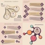 Inzameling van de moderne infographic banners van de origamistijl Royalty-vrije Stock Foto's