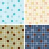 Inzameling van de naadloze patronen van de mozaïektegel Stock Afbeelding