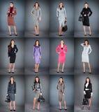 Inzameling van de pakken van vrouwen stock foto's