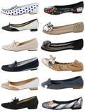 Inzameling van de schoenen van vrouwen royalty-vrije stock afbeeldingen