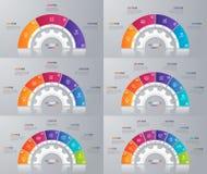 Inzameling van de vectormalplaatjes van de cirkelgrafiek voor infographics Stock Foto