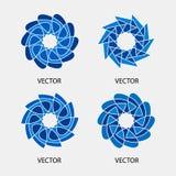 Inzameling van de vectormalplaatjes van het embleemontwerp Stock Foto