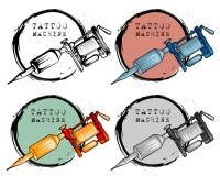 Inzameling van de verschillende machine van de stijltatoegering vector illustratie