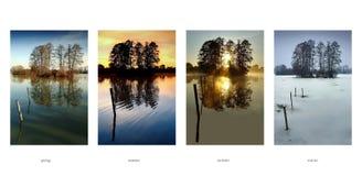 Inzameling - van de vier seizoenen van jaar Stock Afbeelding