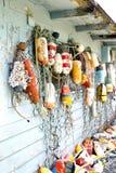 Inzameling van de visserij van boeien stock fotografie