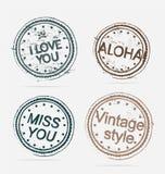 Inzameling van de wijnoogst van de Etiketten van de Kwaliteit van de Premie Stock Afbeelding