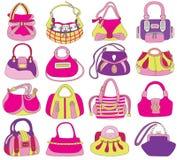 Inzameling van de zakken van modieuze vrouwen vector illustratie