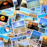 Inzameling van de zomerfoto's Stock Foto