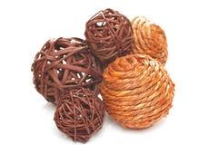 Inzameling van decoratieve ballen Stock Afbeelding