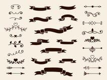 Inzameling van decoratieve elementen voor ontwerp Vector illustratie Royalty-vrije Stock Afbeeldingen
