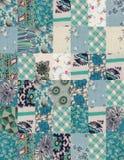 Inzameling van dekbedachtergronden - blauw Royalty-vrije Stock Foto