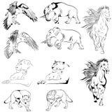 Inzameling van Dieren Tatoo Royalty-vrije Stock Foto