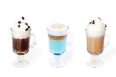 Inzameling van diverse koffiekoppen Royalty-vrije Stock Afbeeldingen