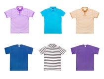 Inzameling van diverse t-shirts Royalty-vrije Stock Afbeeldingen
