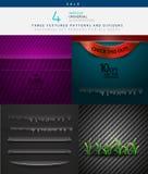 Inzameling van diverse vectortexturen en verdelers Royalty-vrije Stock Foto