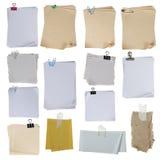 Inzameling van document op witte achtergrond Stock Foto