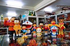 Inzameling van Doraemon, Nobita en de troepen Stock Afbeeldingen