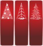 Inzameling van drie banners van Kerstmis Stock Afbeeldingen