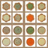Inzameling van droge kruidenkruiden stock fotografie