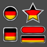 Inzameling van Duitse vlagpictogrammen Royalty-vrije Stock Fotografie